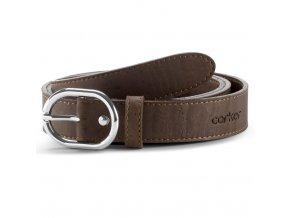 Women Cork Belt Brown Front