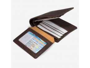 vegan passcase wallet brown id
