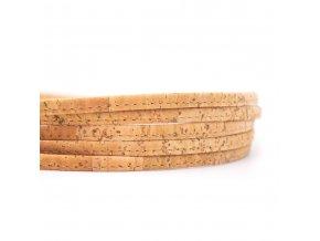 Korkové šnúrky - ploché 5 mm