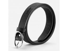 Women Cork Belt Black