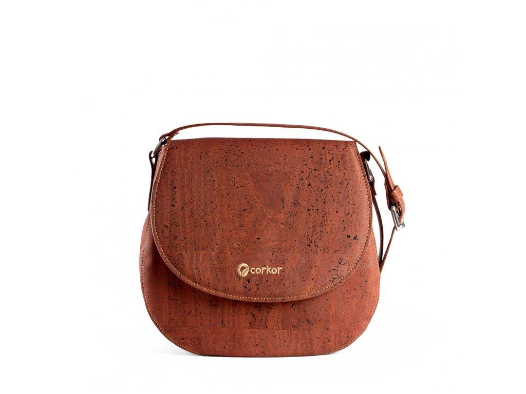 cork saddle bag red front