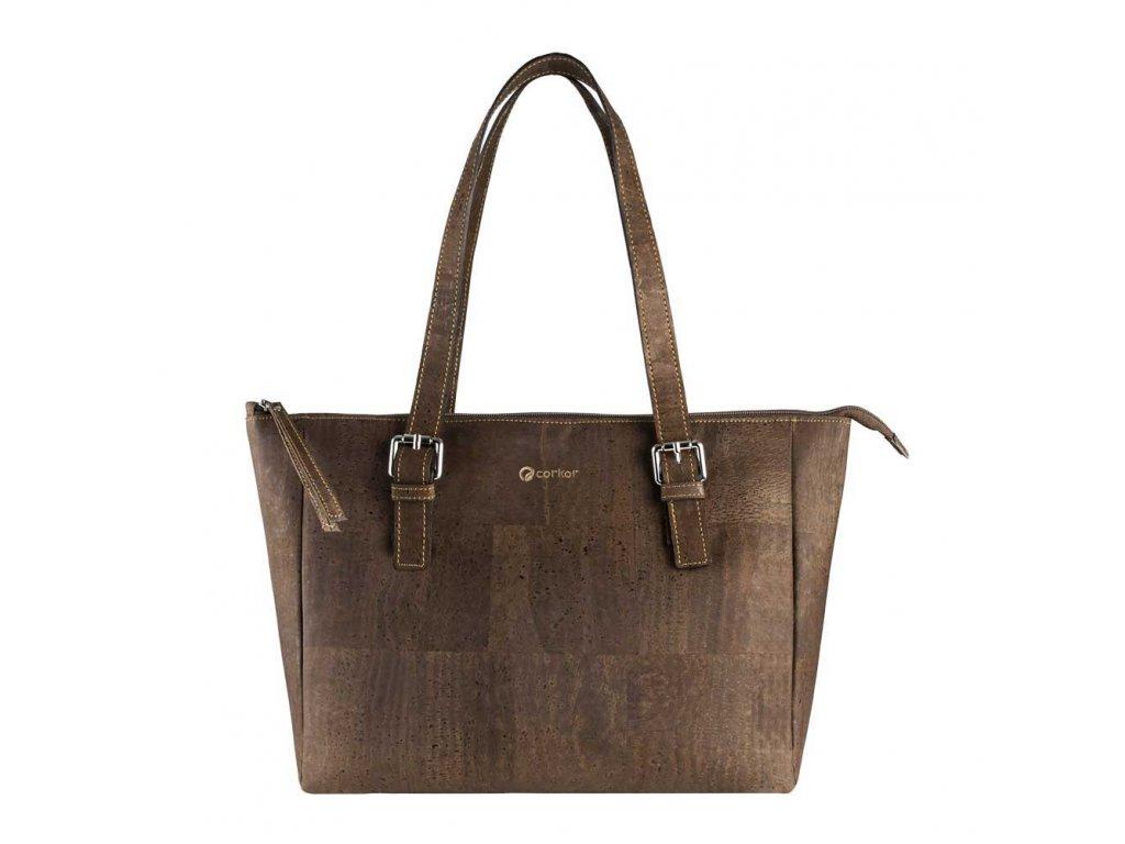 vegan satchel bag c front