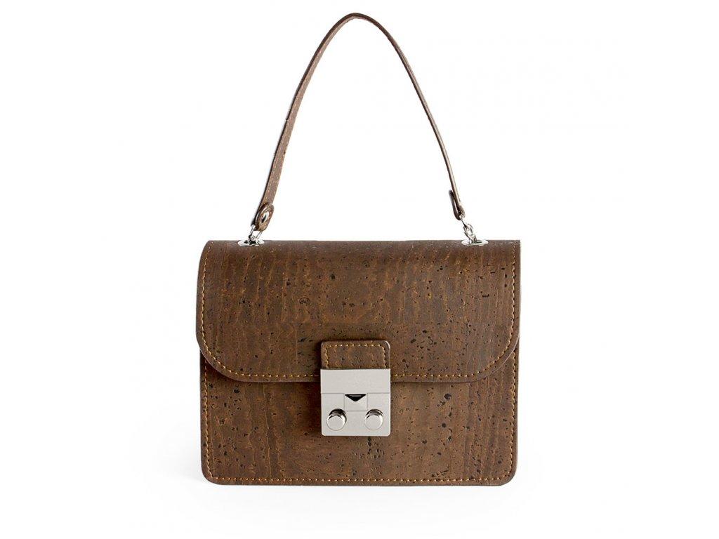 cork mini bag brown front