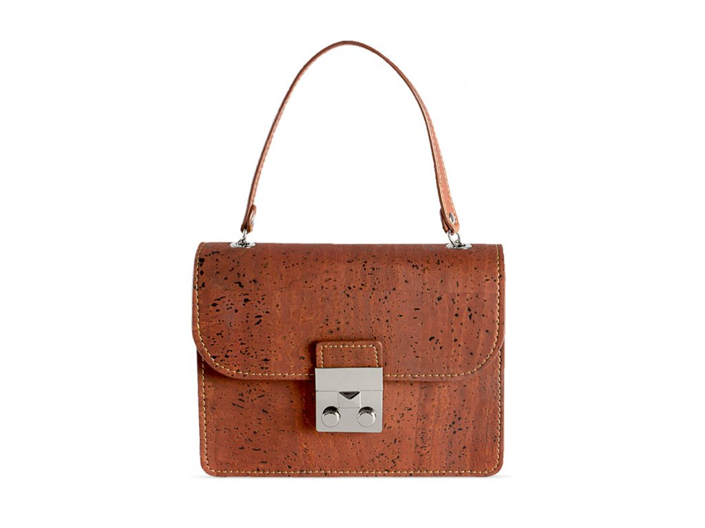 cork mini bag red front