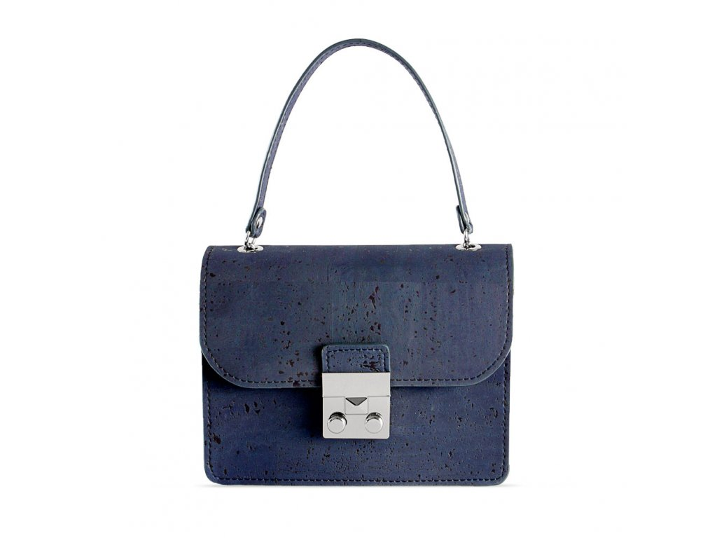 cork mini bag blue front