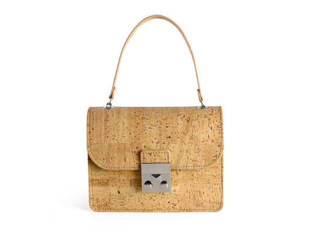 cork mini bag natural front