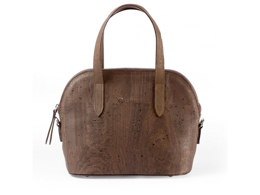 Cork Crossbody Purse Brown Front