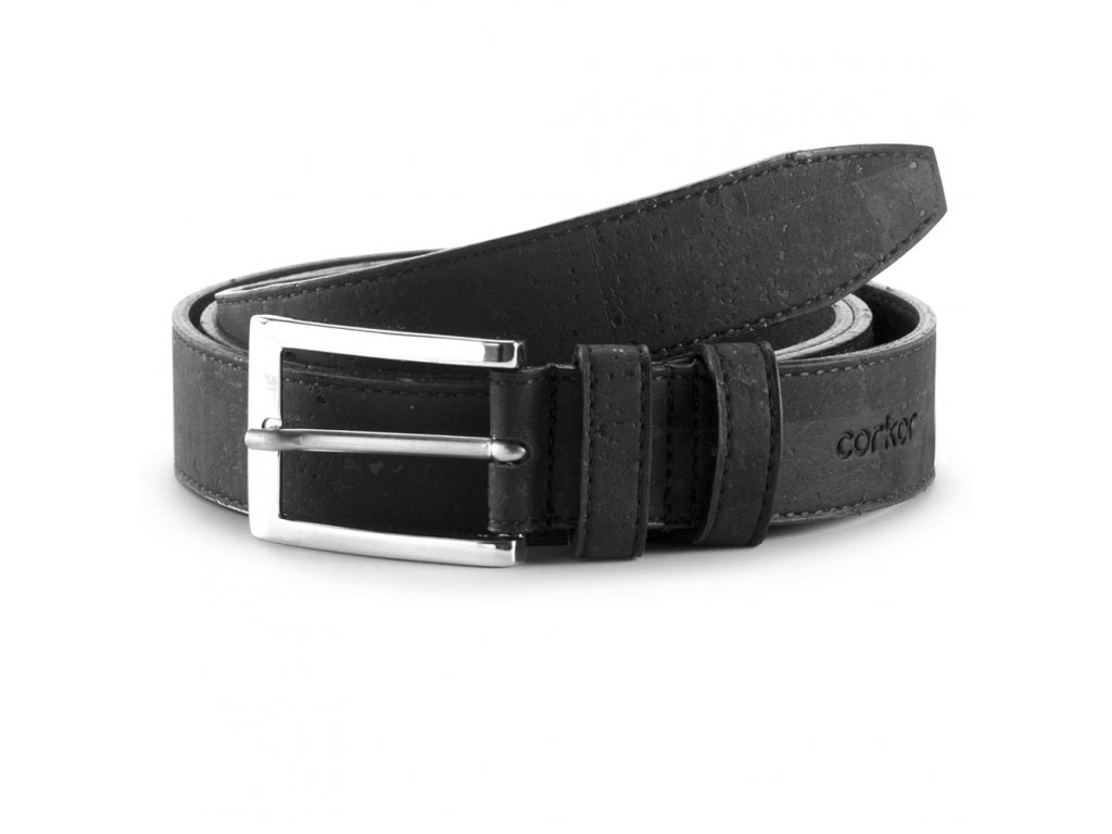 cork belt black 30 front