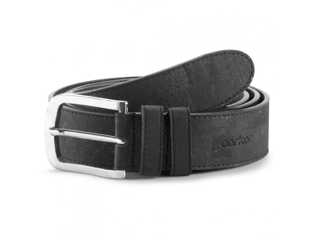 cork belt black 35 front