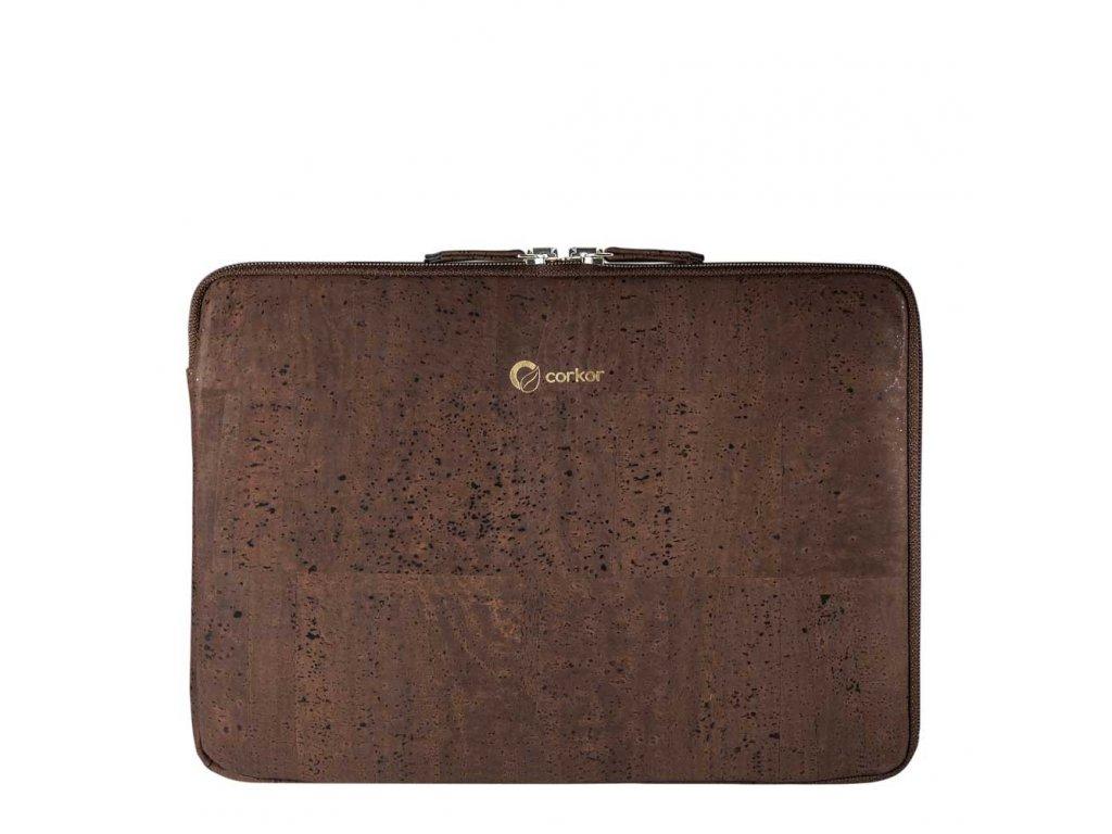 Corkor tmavě hnědé pouzdro na notebook 13''