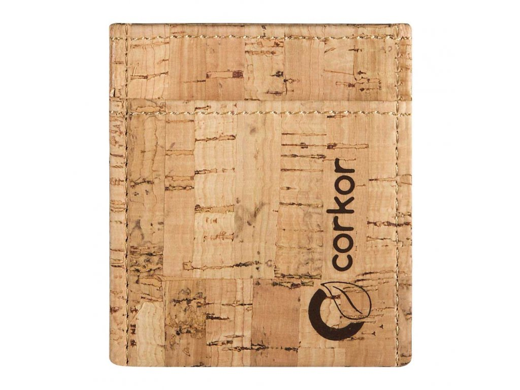 Corkor Minimalist Rustic Credit Card korkové pouzdro na karty