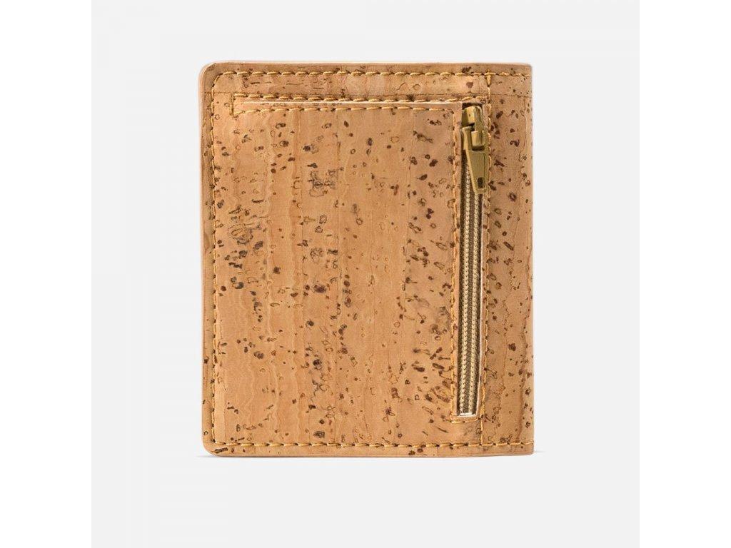 Slim Cork Wallet Natural Back 2000x