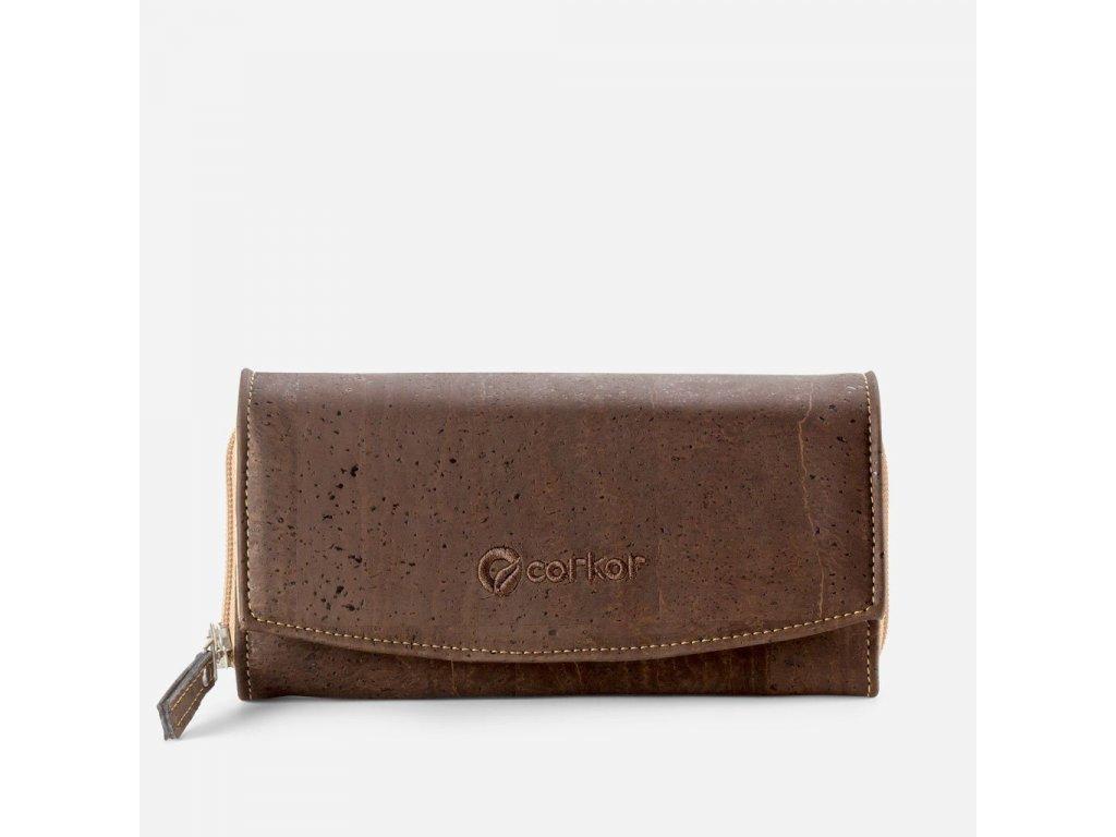 women cork wallet brown front 2000x