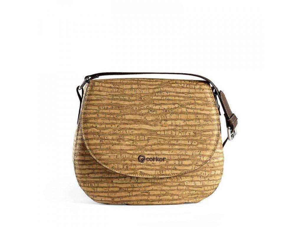 Corkor Saddle Bag Zebra dámská korková kabelka