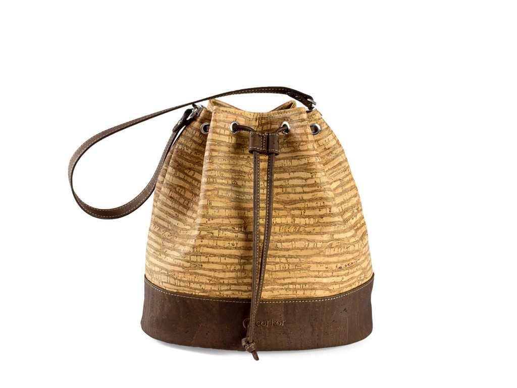 cork bucket bag zebra front