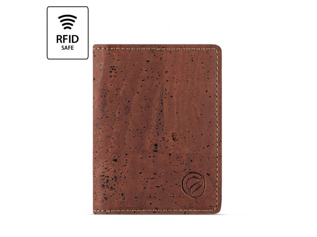RFID Wallet Slim Red RFID Front