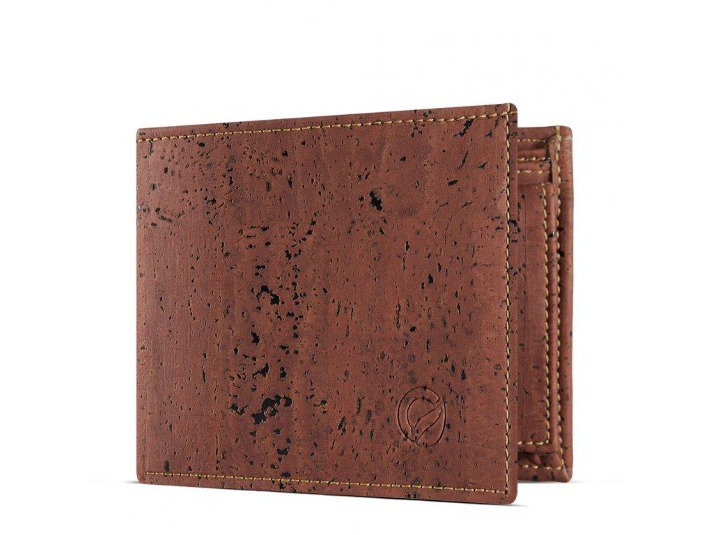 vegan passcase wallet red open