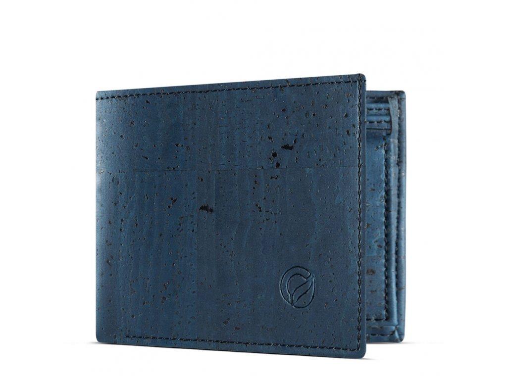 vegan passcase wallet blue side