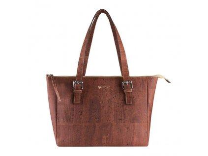 vegan satchel bag v front