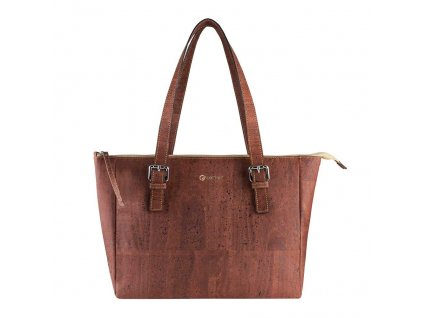 vegan satchel bag v front