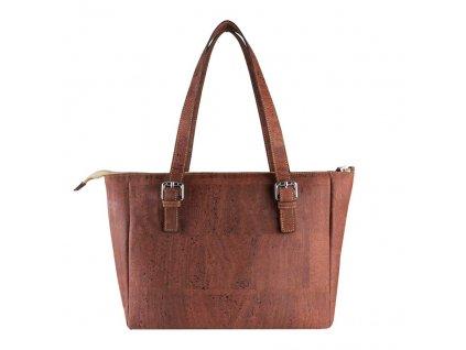 vegan satchel bag v back