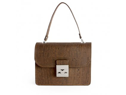 cork mini bag brown front