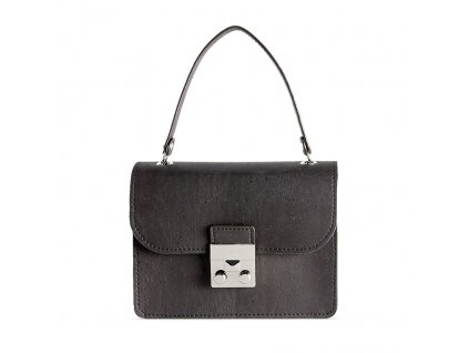 cork mini bag black front