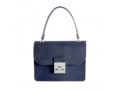 cork mini bag blue front