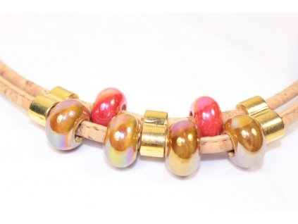Portugalia Cork Náhrdelník ROSE korkový náhrdelník