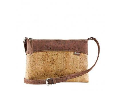 Corkor Cross dámská korková kabelka červeno-hnědá
