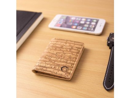 Corkor Slim RFID Block Zebra korková peněženka