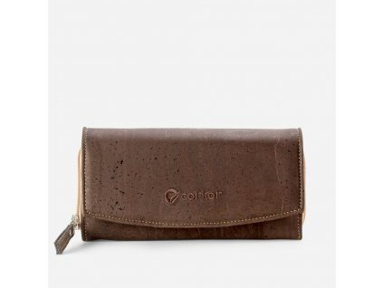 women cork wallet brown front 2000x