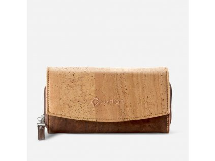women cork wallet brown front aa652ec5 1e94 4d77 90cf 77f685f5a1ed 2000x