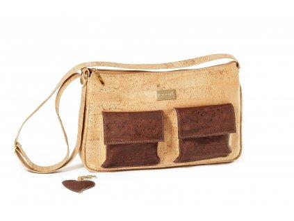 Jocork Baki Natural Wood korková kabelka