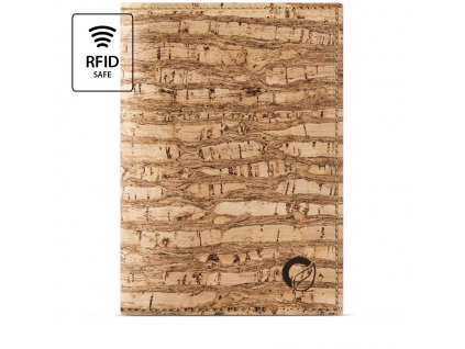 Passport Wallet Zebra Cork Front RFID