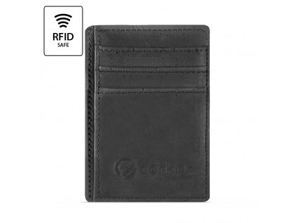 Front Pocket Cork Wallet Black Front