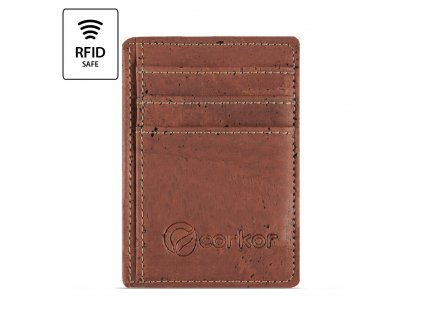 Front Pocket Cork Wallet Red Front