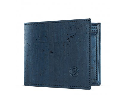 vegan passcase wallet blue side