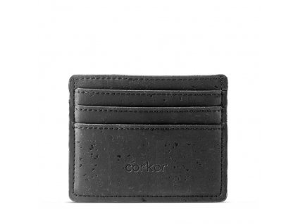 card case wallet black front