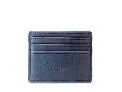 card case wallet blue front