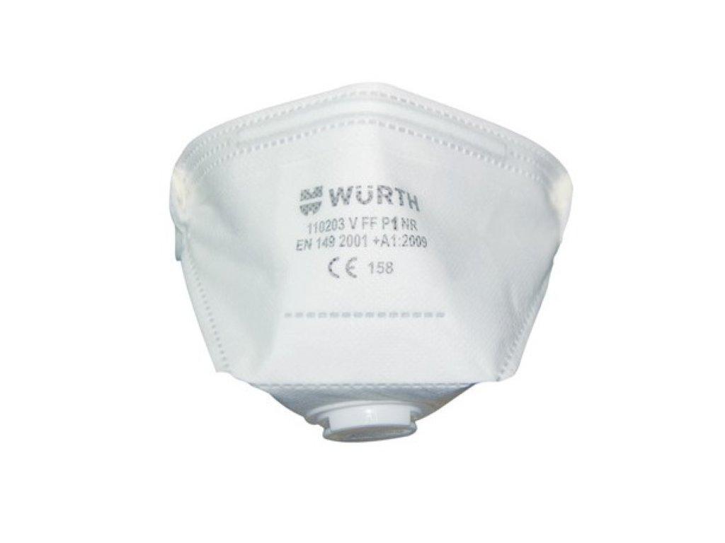 respirator s vydychovym filtrom ffp1 wurth NR ochranna maska