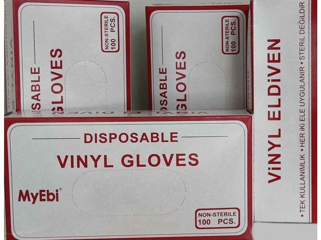 MyEbi Vinyl rukavice vinylové pudrované -100ks