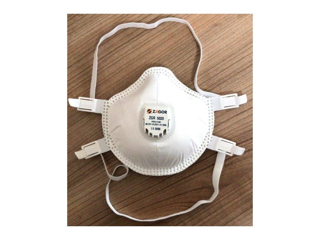 respirator ffp2 s vydychovym filtrom zagor 5020
