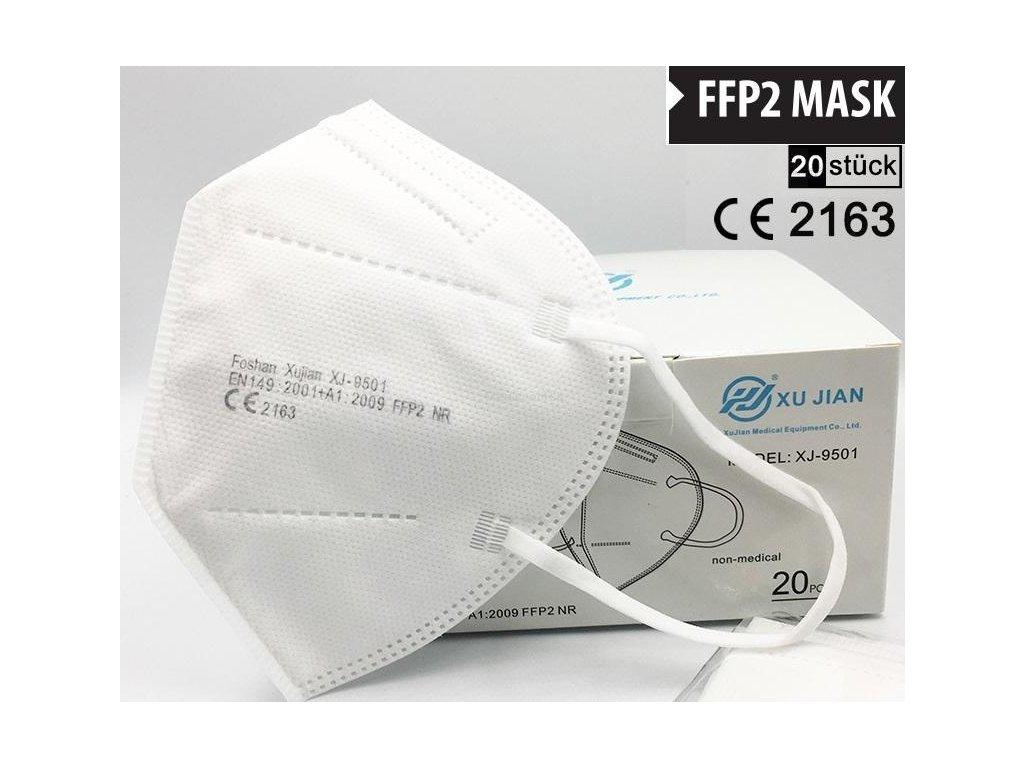 Respirátor FFP2 NR CE 2163- 20 ks v balení