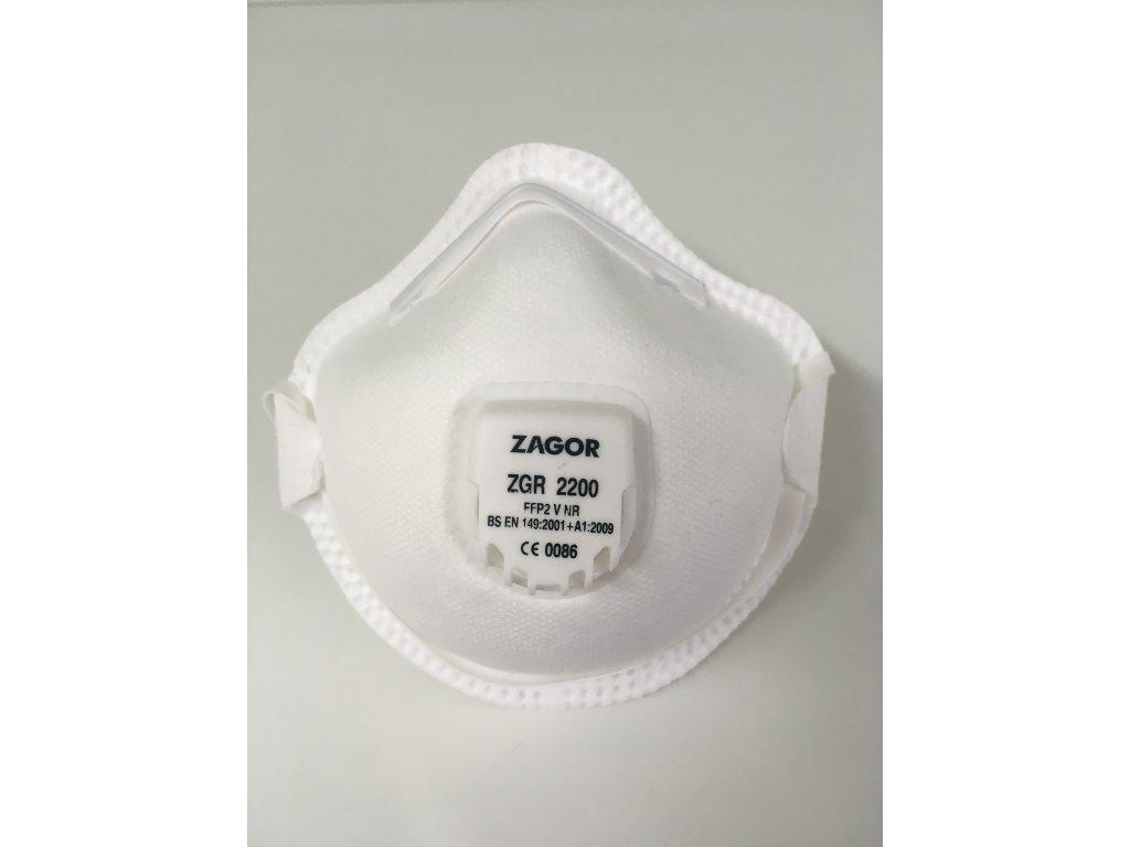 respirator fpp2 biely ochranne rusko