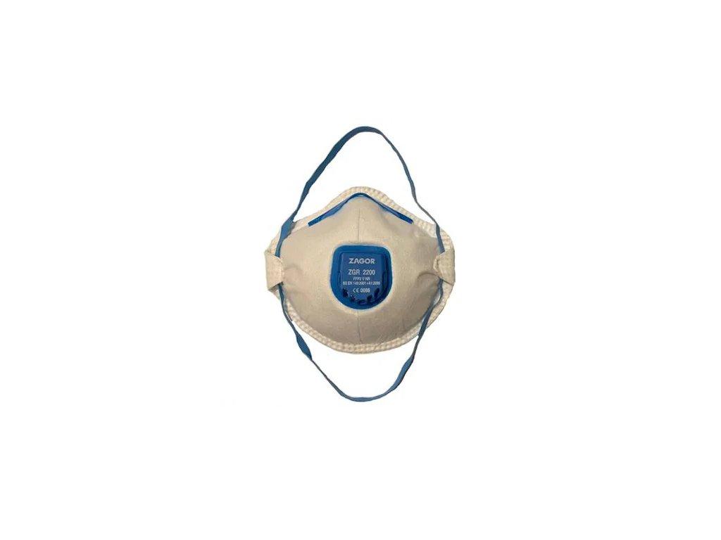 zagor 2200 ffp2 respirator s vydychovym filtrom