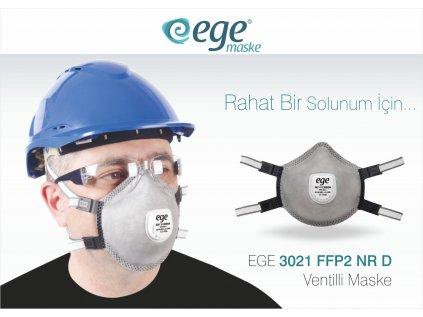Ege Respirátor s výdychovým ventilom FFP2 s aktívnym
