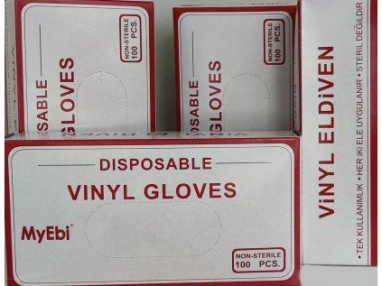 MyEbi Vinyl rukavice vinylové pudrované 100ks