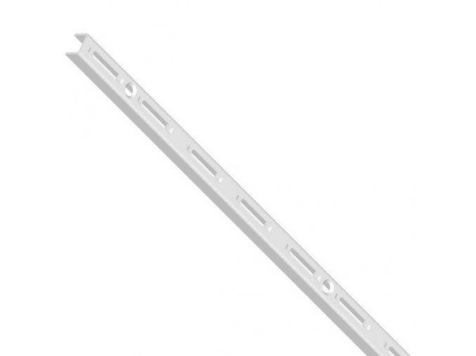 Stojina s jednořadým děrováním, 1000 mm, bílá