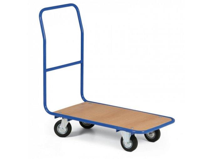 Plošinový vozík LIGHT, plošina 780x450 mm, kola s šedou pryží